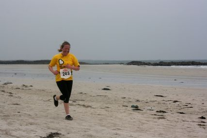 Tiree half marathon last few metres May '14