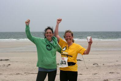 Tiree half marathon after finishing May '14