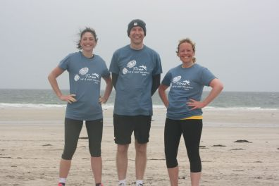 Tiree half marathon/10K after the finish May '14
